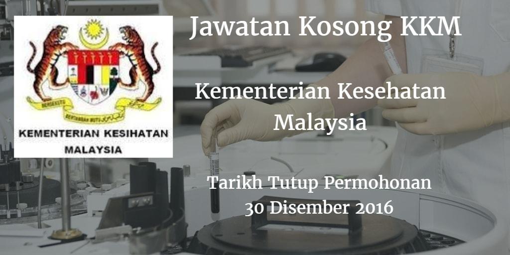 Jawatan Kosong KKM 30 Disember 2016