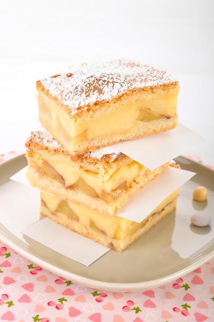Apfelkuchen mit Pudding. http://mein-dolcevita.blogspot.de