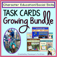 Task Cards Character Education - Social Skills Growing Bundle