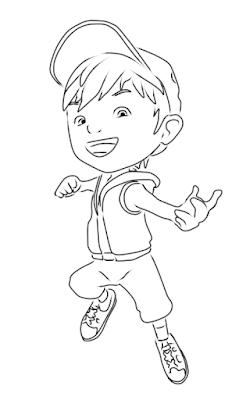 Cara Menggambar BoBoiBoy Api  9KomiK