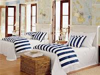 Wandgestaltung Schlafzimmer Maritim