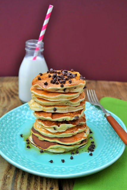 Chocolate Chip & Raisin Scotch Pancakes