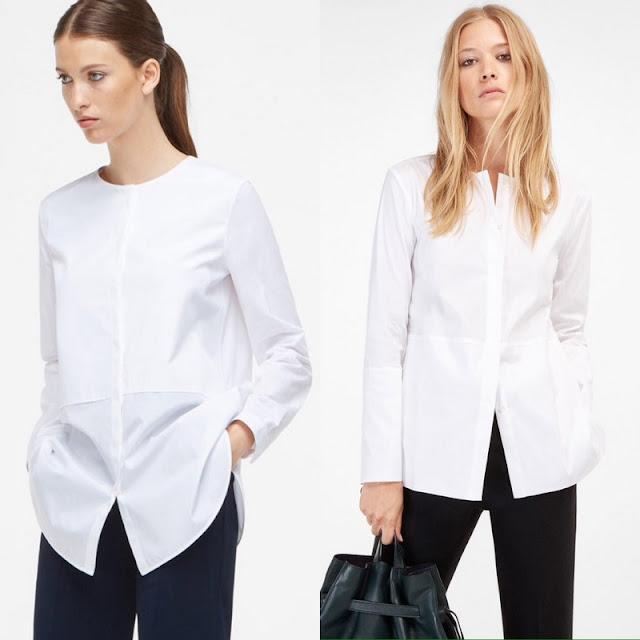white cotton poplin Massimo Dutti shirt