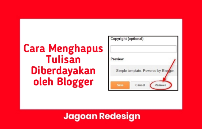 Cara Menghapus Tulisan Diberdayakan oleh Blogger