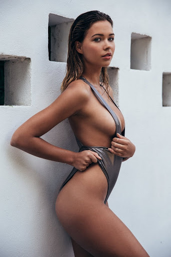 Hot model Sandra Kubicka in bikini swimwear photo shoot for Playboy Magazine April 2017 issue