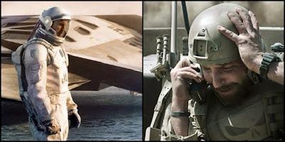 Interstellar, de Christopher Nolan, y El francotirador, de Clint Eastwood