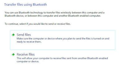 mengirim dan menerima file melalui bluetooth