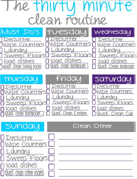 Becoming Becca Organize Your Life - Cleaning Schedule - housework schedule