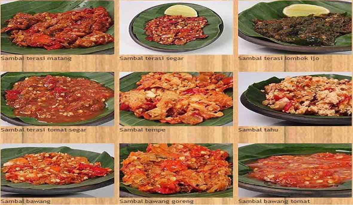 Sembilan Aneka Resep Sambal Pilihan Khas Nusantara Sembilan Aneka Resep Sambal Pilihan Khas Nusantara