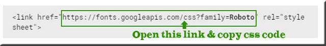 Link-of-Google-Fonts