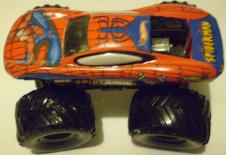 Top view of Monster Jam Spider-Man truck