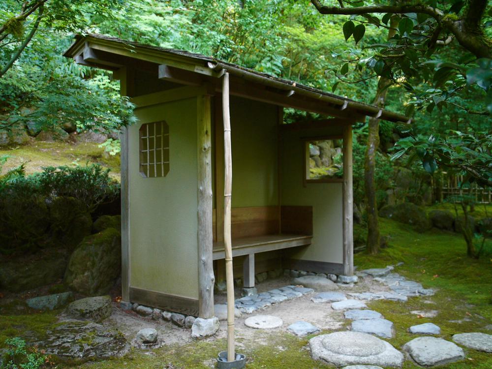 Portland Oregon Japanese Garden, Panasonic Lumix L1, shelter, zen