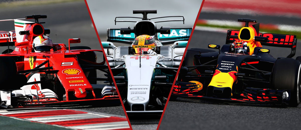 Ferrari y Red Bull al acecho de Mercedes en 2017 (Vettel, Hamilton, Verstappen)