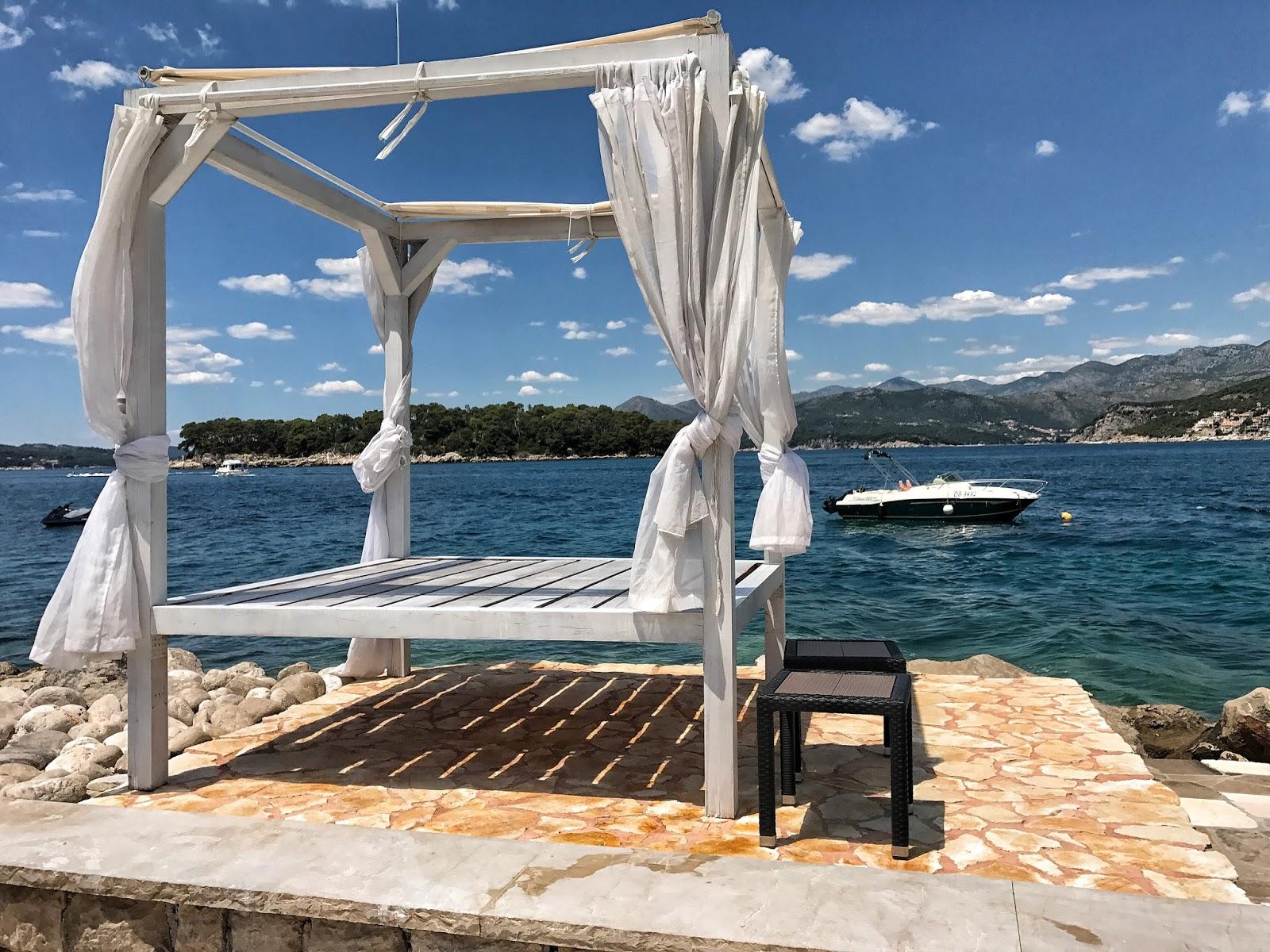beach bed Copacana beach Dubrovnik Croatia