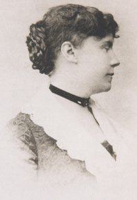 Black and white 19th century photo of Constance Fenimore Woolson