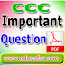 GTU CCC Theory and Practical Exam Important Questions