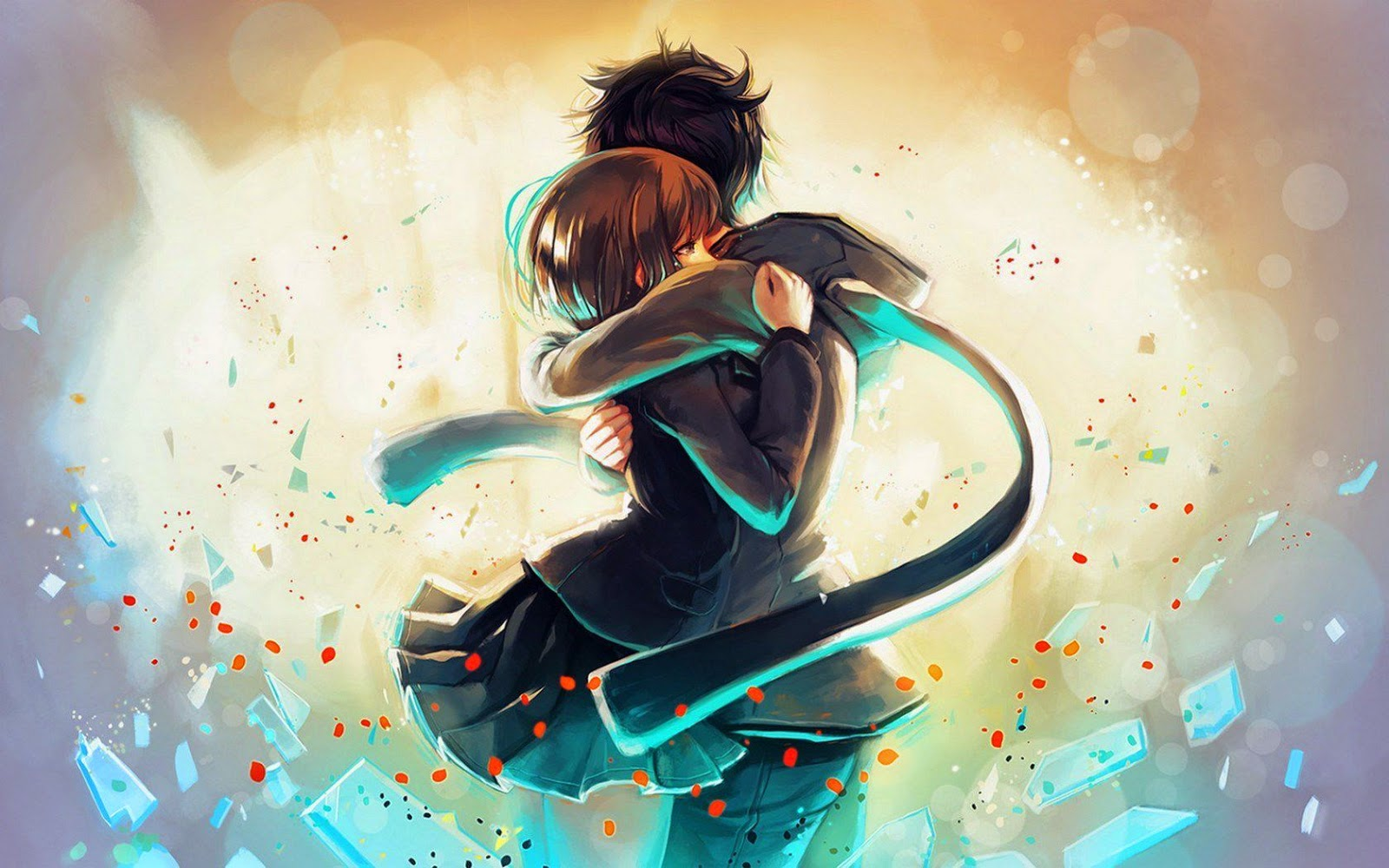 Anime Couple Lovely Hug Hd Wallper Best Love Hd Wallpapers