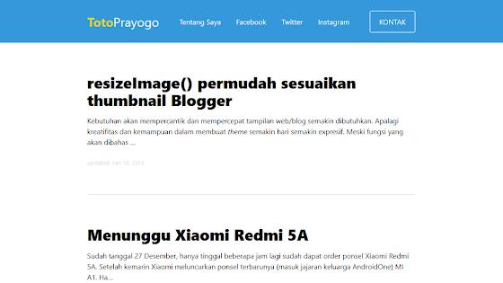 Blogger dengan tampilan baru
