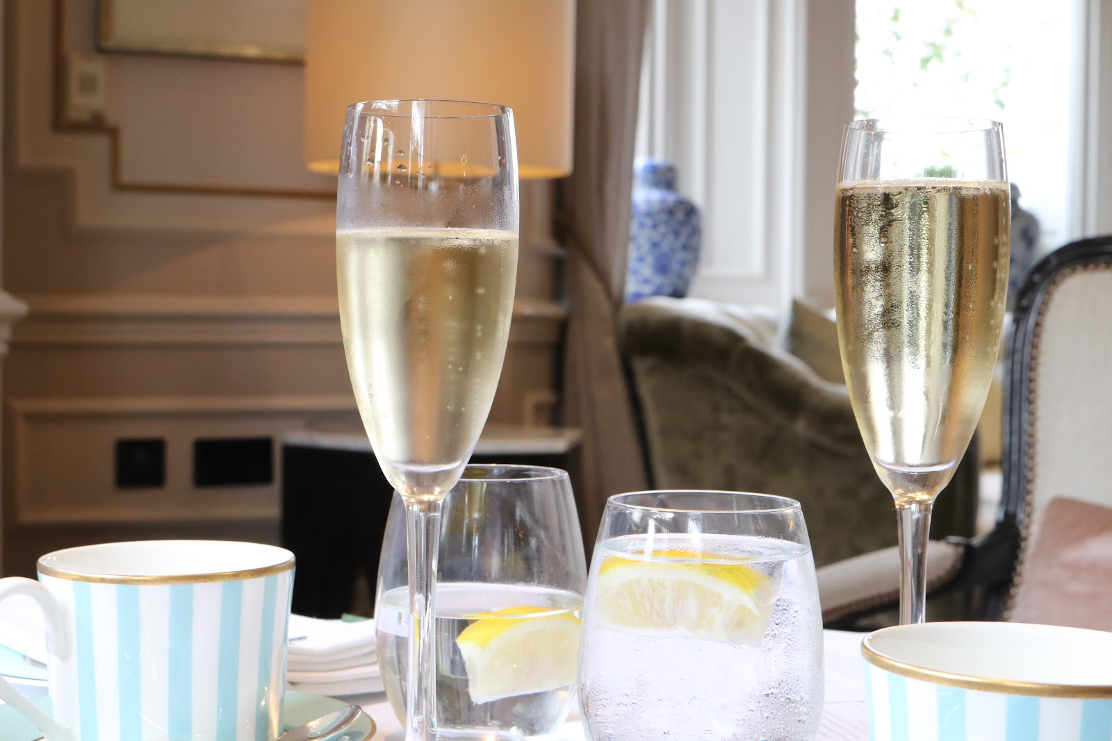 Champagne at Afternoon Tea, The Kensington Hotel, Kensington, Chelsea, London