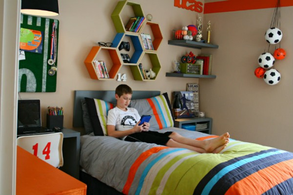 Desain Kamar Tidur Anak Laki  Laki Sederhana