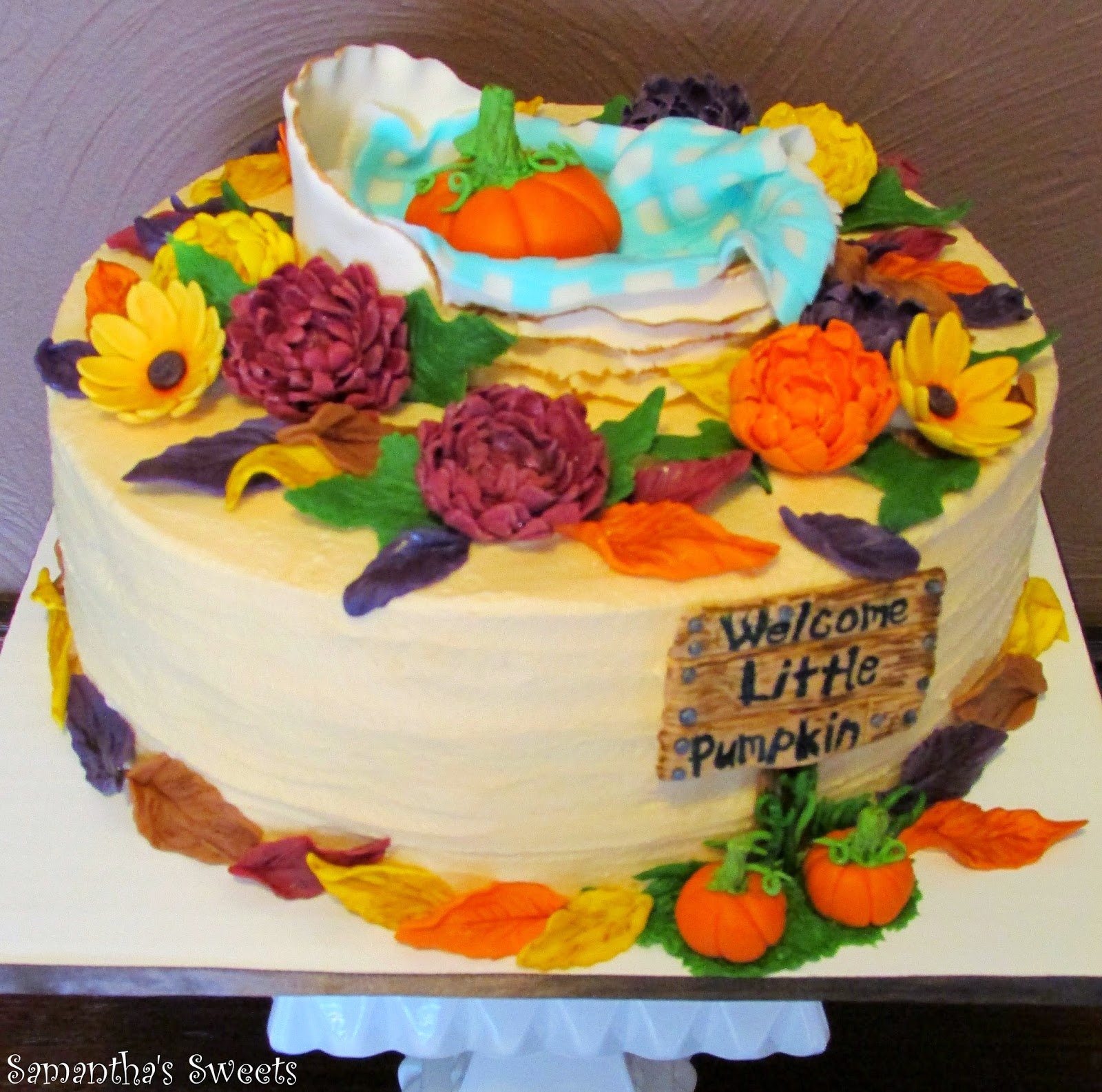 Parties With Cake Welcome Little Pumpkin Baby Shower Cakes