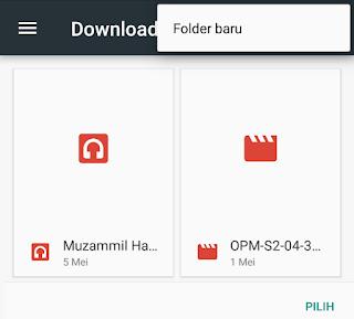 menentukan folder download