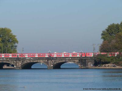Hamburg, Alster, Lombardsbrücke, Brücke