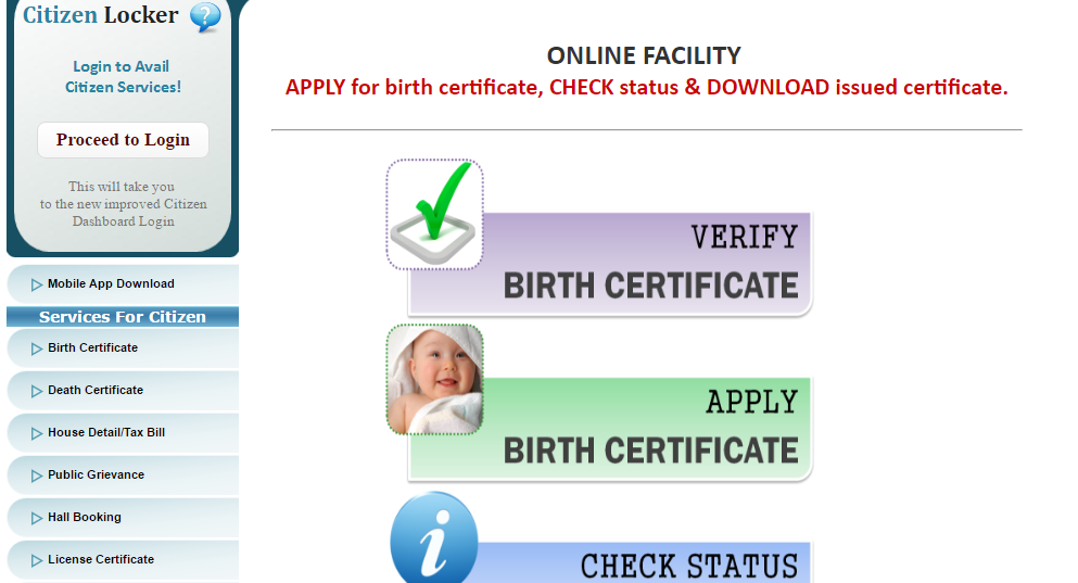 uttar pradesh (up) birth certificate online 2017: status, forms