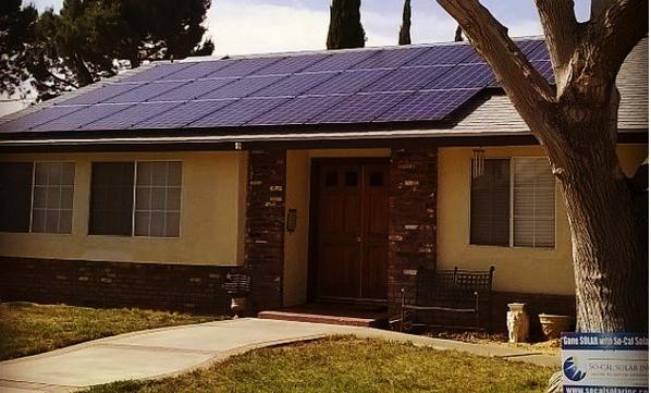 aplikasi panel surya diatap rumah