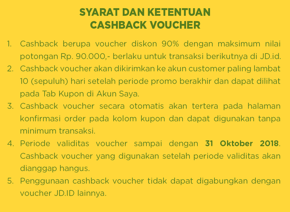 JdID - Promo Cashback 90% Bayar Pakai GOPAY (s.d 31 Okt 2018)