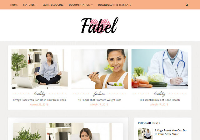 Fabel Premium Template Download Here