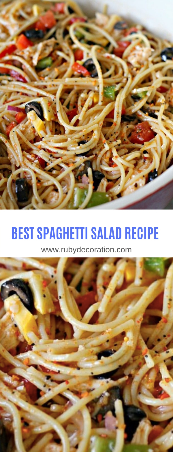 BEST SPAGHETTI SALAD RECIPE
