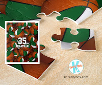 Personalized basketball jigsaw puzzles for girls and boys by katzdzynes