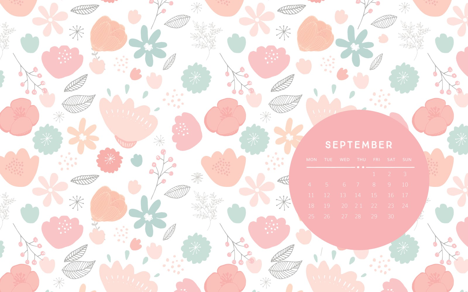 Calendar Wallpaper Love Mae : New desktop calendar for september love mae