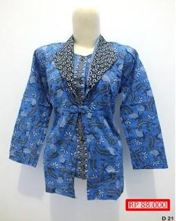 Model Baju Batik Atasan Buat Guru
