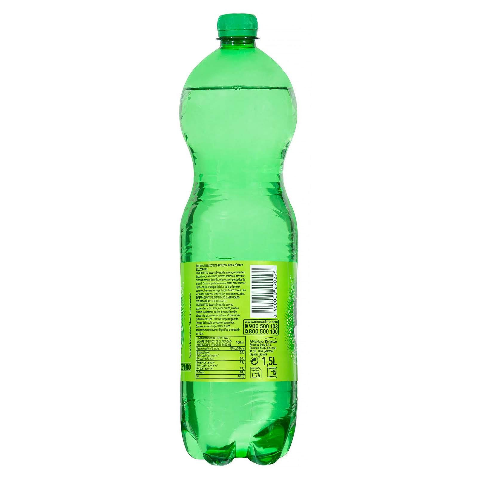 Refresco de lima-limón Fresh Gas Hacendado