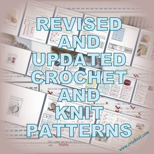 revised patterns, updated crochet patterns, knit patterns, crocknit, barbara summers,