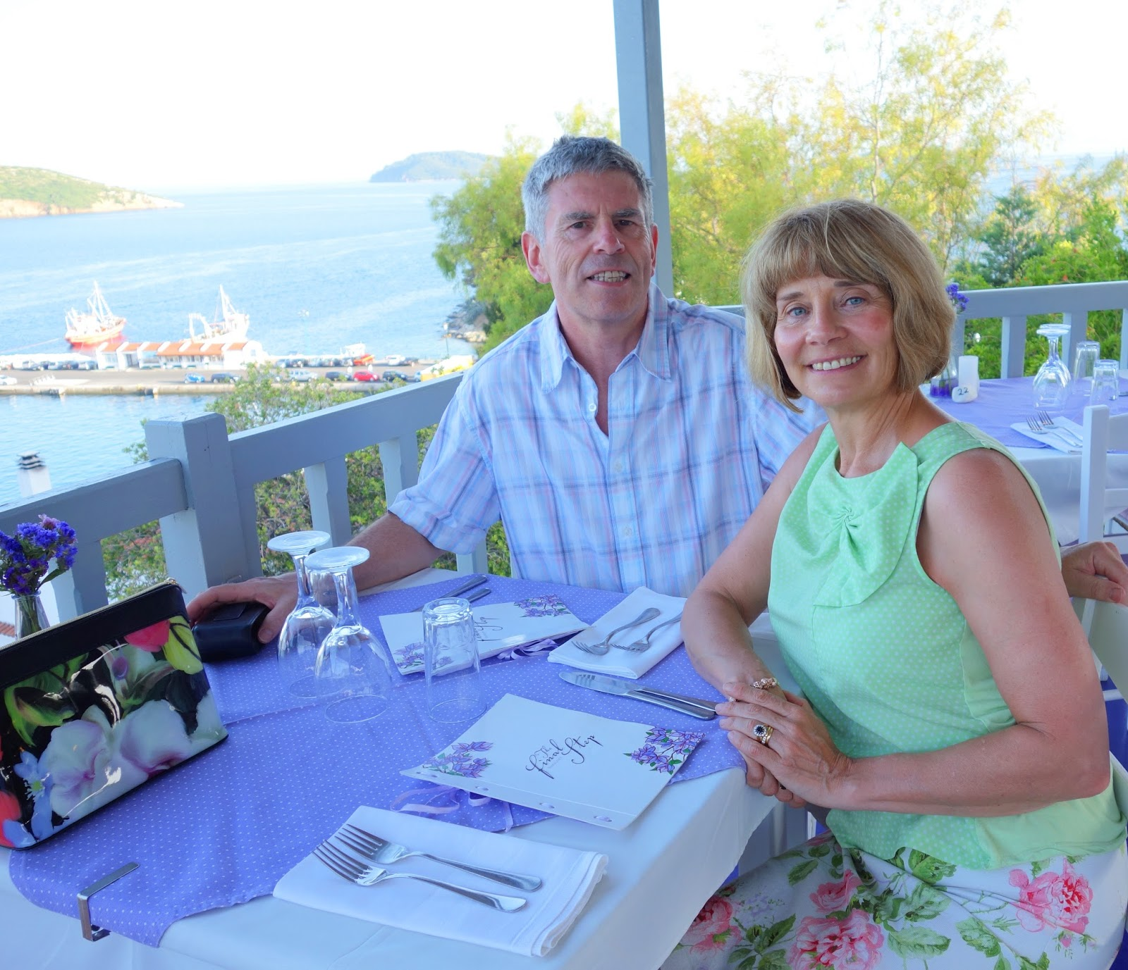 Is This Mutton? and husband dining at The Final Step in Skiathos