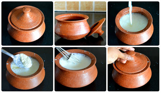 How to make thick Curd/Yogurt/Dahi in a clay pot?