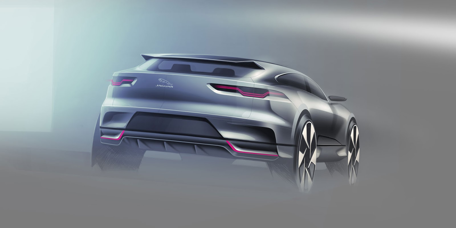 Jaguar I-Pace sketch - rear view