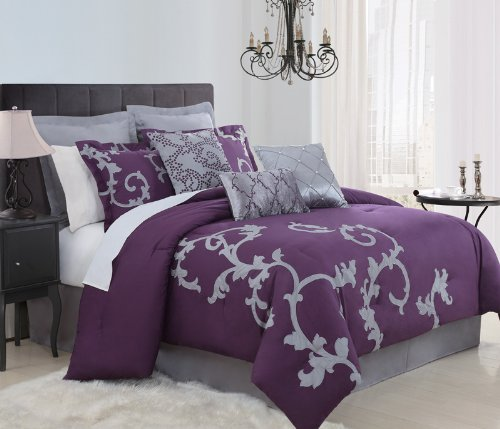 Deep Dark Purple Comforters & Bedding Sets