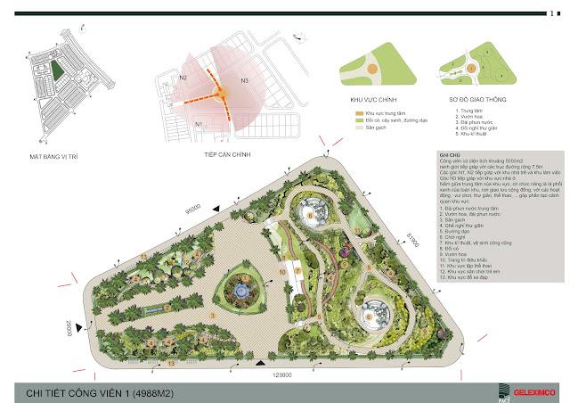Thiết kế quy hoạch chi tiết công viên 1 - The Green Daisy