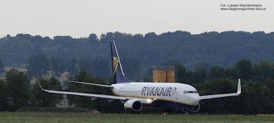 Boeing 737-8AS(WL) nr EI-EBM, Ryanair, Kraków Airport