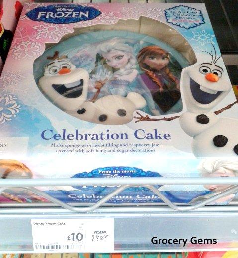 Fresh Disney Frozen Celebration Cake Groceries Tesco Groceries