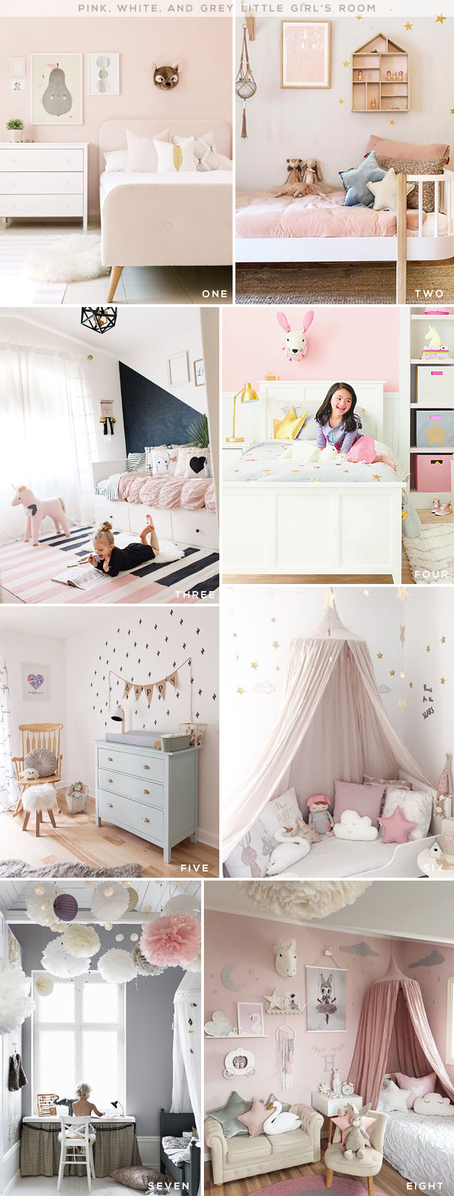 Pink White And Grey Little S Room