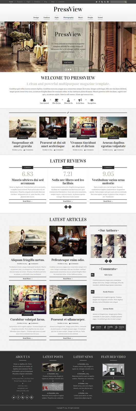 Premium Stylish Magazine Template