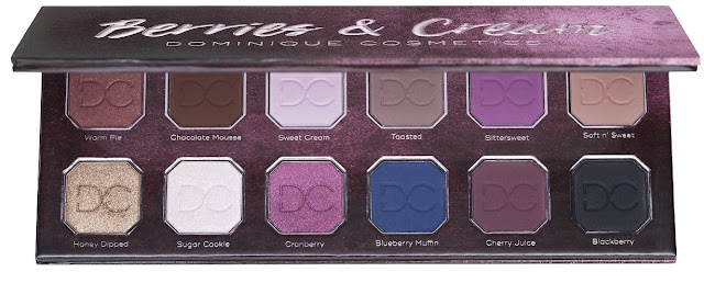 Dominique Cosmetics Berries and Cream Eyeshadow Palette