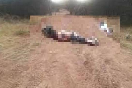 """Tras fuertes enfrentamientos con granadas y """"Cuernos de Chivo"""", localizan dos ejecutados en Chihuahua."""