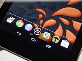Tela do Google Nexus 7
