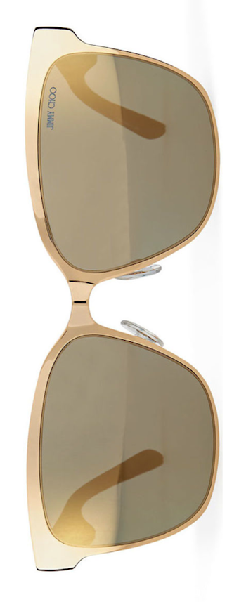 Jimmy Choo Kiera Mirror Logo-Temple Sunglasses
